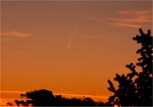 Cometa McNaught al crepuscolo