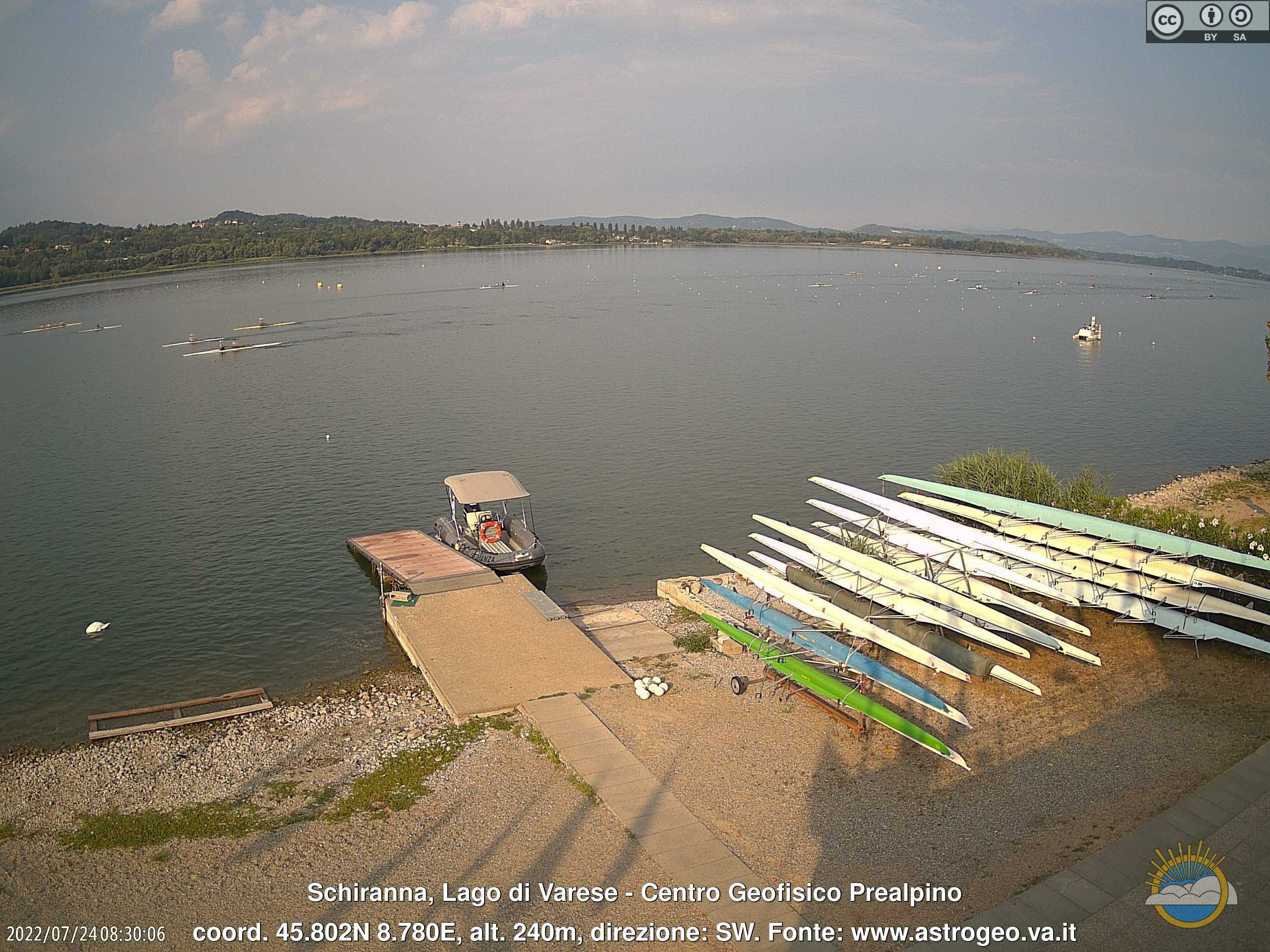 Webcam Lago di Varese - Galliate Lombardo